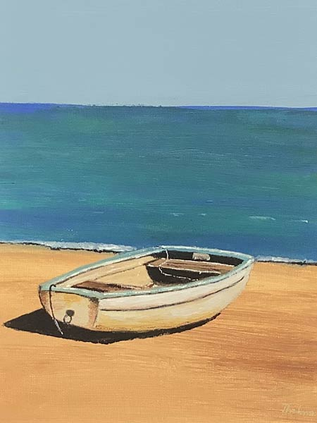 P127 Lone Boat On The Shore
